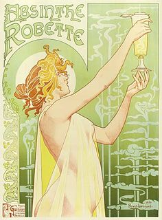 Art Nouveau poster for Absinthe by Henri Privat-Livemont, not by Alphonse Mucha. Poster A3, Retro Poster, Kunst Poster, Poster Prints, Art Prints, Canvas Prints, Alphonse Mucha, Fantasy Poster, Pub Vintage