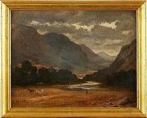 OIDENTIFIERAD KONSTNÄR, England 1800-tal, oljemålning. Stadsauktion. EST: 2 000 SEK. barnebys.se