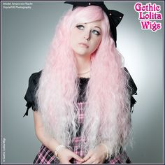 Gothic Lolita Wigs Store Rhapsody™ Collection - Pink White Ombre Fade – Dolluxe®  Brighten up your day with fluffy pastel hair! Our Rhapsody in Pink is an easy way to do just that - a soft pink-to-white gradient combined with this unique texture creates the perfect wig for any occasion!  #gothiclolitawigs #GLW #IAMDOLLUXE #wig #coolhair #hairfashion #style #hairstyle #beautiful #longhair #curlyhair #beautifulwigs #cute #kawaii