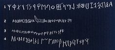 Examples of the Etruscan Alphabet. From right to left or from left to right, they could write in both directions