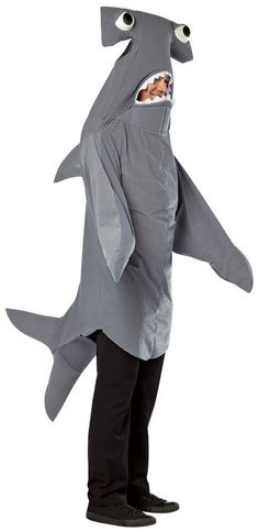 hammerhead shark adult shark halloween costumeshark - Halloween Costume Shark