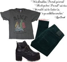 """Alice?"" by emmarussell84 ❤ liked on Polyvore"