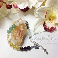 Good Luck Bracelet Good Luck Jewelry Spiritual Jewelry Lucky Charm Garnet Baltic Amber Citrine Jade Aventurine Tourmalated Quartz Moonstone