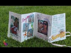 Scrapbooking Tutorial:Mini Album Accordion Summer Days with Color Bloom (Semplicissimo/Easy) - YouTube