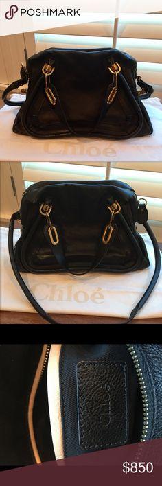 """Chloe Medium Paraty Authentic Chloe Medium Paraty in Black. 15""""L x 7""""W x 9""""H. Great Condition! Beautiful Bag! Chloe Bags"""