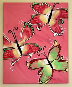Butterflies with hand prints