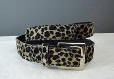 Vintage Faux leopard Fur Belt XL 33 to 37 inch waist, 1980s 90s Absolutely Fresh by dandelionvintage on Etsy