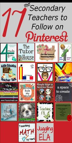 17 secondary teachers to follow on pinterest!