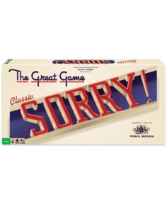 The Classic Sorry game is a good reason to have a family and friends game night. Draw a card and be the first to travel around the game board to win. This fun game is easy to learn and play and decorated with classic, original artwork. Sorry Game, Sorry Board Game, Family Games To Play, Classic Artwork, Toys Online, Family Game Night, Play To Learn, All About Eyes, 6 Years