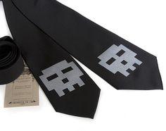 Pixel Skull Tie by Diesel Sweeties