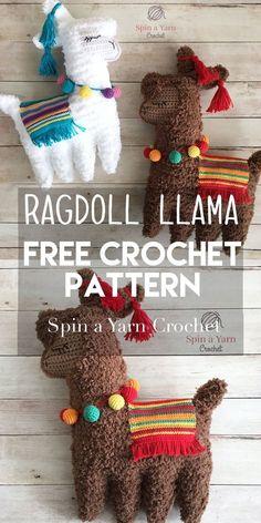 Ragdoll Llama Free Crochet Pattern - Spin a Yarn Crochet