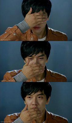 """Dae Woong: """"Miho...no te vayas"""". Ella lo besa y desaparece. Dae Woong abre los ojos: """"Dijiste que era un sueño? Dijiste que cuando abriera mis ojos no dolería? Duele mucho….Cómo puedes ser un sueño?"""" - My Girlfriend is a Gumiho Ep 16"""