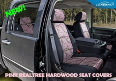 Toyota tacoma trd custom fit pvc leatherette seat covers from coverking pink realtree camo front rear custom seat covers for toyota 4runner coverking publicscrutiny Images
