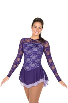 079 Lace Over Lavender Dress