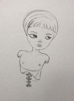 Michelle Cahill: Sketch @ www.chinadahlia-arts.com