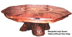 Rustic handmade Mesquite table from Texas Hill Country Furniture