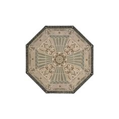 Nourison Versailles Palace Octagon Beige Area Rug ($740) found on Polyvore featuring home, rugs, medallion rug, beige rugs, nourison area rugs, cream rug and border rug