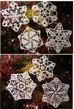 Crochet Christmas ornaments ♥LCC♥ with diagram