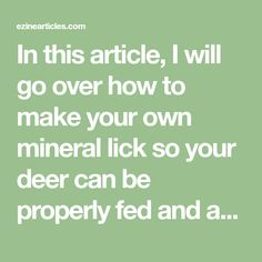 In this article, I will go over how to make your own mineral lick so your deer can be properly fed and at the same time, be addicted! Mineral licks have proven ingredients that lead to healthier antler growth and the deer absolutely love it.