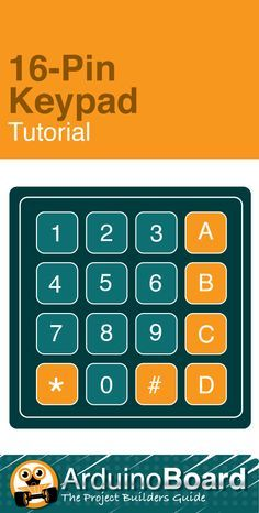 16-Pin Keypad Tutorial :: Arduino Tutorial - CLICK HERE for tutorial http://arduino-board.com/tutorials/keypad