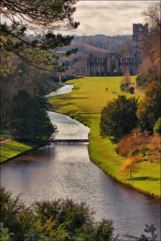 coffeenuts:    Fountains Abbey View by Andy Watson1 on Flickr.