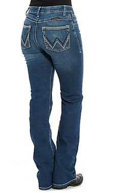 Wrangler Women's Willow Ultimate Riding Jean Light Wash Mid Rise Boot Cut Jeans   Cavender's Cowgirl Jeans, Western Jeans, Work Jeans, Cut Jeans, Women's Jeans, Country Wear, Country Outfits, Classic Outfits For Women, Rodeo Outfits
