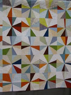 modern quilt, bursts of colour