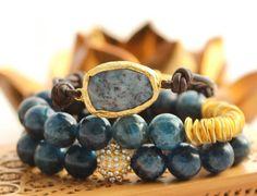 Apatite Stretch Bracelets by LaliJewelryShop