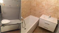 Kúpeľňa pred a po rekonštrukcii. Alcove, Bathtub, Bathroom, Standing Bath, Washroom, Bathtubs, Bath Tube, Full Bath, Bath