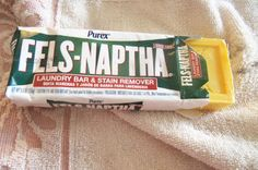 Sponsored. Tried Fels-Naptha Stain Remover and it works good on most stains.