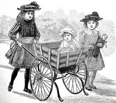 """A New Baby-Cart."" Cassell's Family Magazine, 1891."