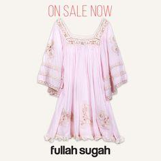 On Sale Now!  FULLAHSUGAH  Φόρεμα με κέντημα και δαντέλα | 1422111033 #fashion #dresses #summer_look #fullah_sugah #style #trends