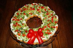 Holiday Crescent Vegatable Wreath
