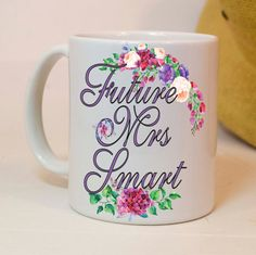 Future Mrs mug, future Mrs gift, engagement gift, gift for the bride, future mrs, custom last name, cute gift, engagement mug, engaged mugs Wedding Gift Mugs, Wedding Shower Gifts, Engagement Mugs, Engagement Ideas, Bride Gifts, Couple Gifts, Newlyweds, Mother Of The Bride, Gifts In A Mug