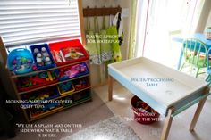 Use EMMAS baby shelf like this one in garage for toys.