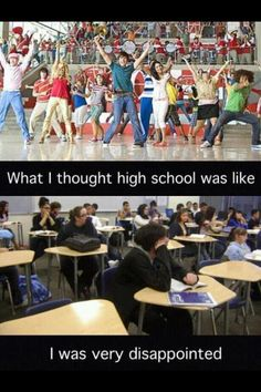 """Haha it's funny going to the school where this movie was filmed becuase I often get asked by little kids, """"YOU GO TO THE HIGH SCHOOL MUSICAL SCHOOL!! Do you guys sing allot?"""" The truth is everyone that goes to that school has a burning hatred for the movie. :)"""