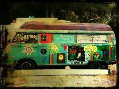 Recordando los 70. Hippie furgo