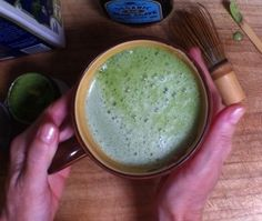 Green Tea Latte better than Starbucks! How to  recipe and tips from #LuckyDuckLiving organic tee founder Thais Zoe Fun and Easy