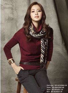 Kim tae-hee, great fall outfit