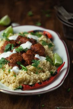 Chilli Con Carne Meatballs With Bulgur Recipe | Foodienarium (Jamie Oliver 15 min.)