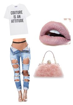 """""""Untitled #38"""" by tdior1 on Polyvore featuring Moschino and Dolce&Gabbana"""