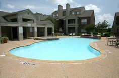 Get some sun at the pool at The Wilson Crossing Apartments in Cedar Hill, TX
