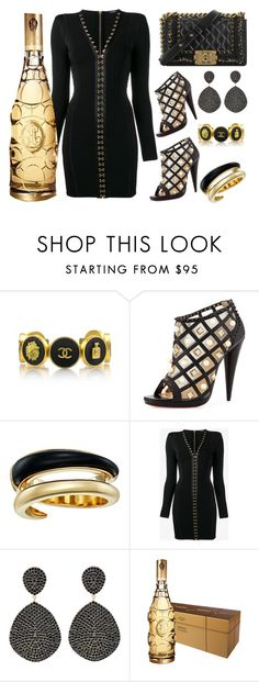 """""""Night life"""" by ellenfischerbeauty ❤ liked on Polyvore featuring Chanel, Christian Louboutin, Michael Kors, Balmain and Latelita"""