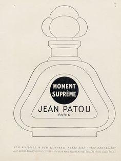 Jean Patou (Perfumes) 1951 Moment Suprême  - Vintage advert Perfumes   Hprints.com