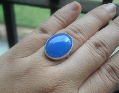 Hey, I found this really awesome Etsy listing at https://www.etsy.com/listing/97544223/blue-chalcedony-ring-blue-ring-oval-ring