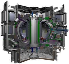 ITER - the world's largest tokamak — is expected to be completed in 2019, with deuterium-tritium operations in 2027 and 2000–4000MW of fusion power onto the grid in 2040 (credit: ITER Organization)  The world's most powerful planned fusion reactor, a huge device called ITER that is under construction in France, is expected to cost around $40 billion.