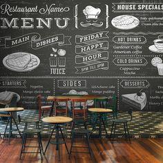 18.00$  Watch here - http://ali0qu.shopchina.info/go.php?t=32608903977 - Free Shipping Dessert  food wallpaper blackboard pizza coffee tea coffee bakery large mural wallpaper  #SHOPPING