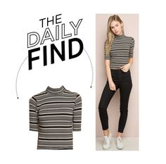 """The Daily Find: Brandy Melville Turtleneck Top"" by polyvore-editorial ❤ liked on Polyvore featuring DailyFind"