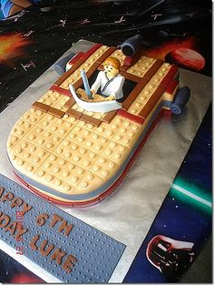 awesome star wars lego cake.  I might have to try making this.