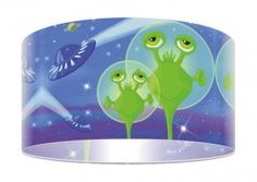 Projekt lampy Jaskrawe ufoludki